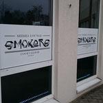 Fensterbeschriftung Smokers Lounge Gifhorn Shisha Bar & Cocktailbar