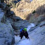 Ausstiegslänge mit genüsslichem Eis