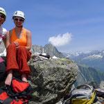 Gipfel Hochschijen, im Hintergrund Salbit Westgrat
