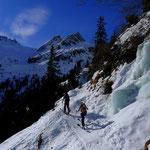 im Aufstieg zur Franz-Senn-Hütte