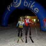 Martin Falkner und Patricia Schanne gut gelaunt vor dem Start
