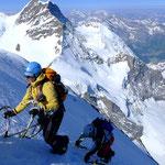 Ausstieg Gipfelflanke