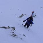 kurze Skitragepassage