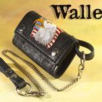 Wallet, handgenäht und aufwendig punziert, Motiv Adler