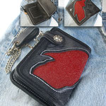 Edel-Wallet-Stingray-2- Intarsie aus echtem Rochenleder
