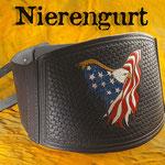 Nierengurt- handpunziert aus 5mm dickem Leder
