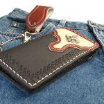 Wallet-Western mit Concho, Komplett Leder, innen und aussen