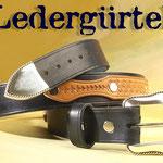 38mm breiter, punzierte Applikationen, Gürtel mit Sterlingsilber-Schnalle