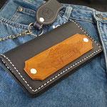 Wallet-V-Twin, Komplett Leder, innen und aussen