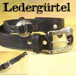 38mm breiter, punzierter Gürtel mit Sterlingsilber-Schnalle