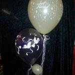 Detailansicht aus der Dekoration ein Bild zuvor, Abholpreis: € 9,98. Schwebezeit: Mehrere Tage, aber: Ballons sollten immer am Tag der Verwendung abgeholt/geliefert werden.