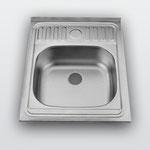 WW-5060   Кухонная мойка из нержавеющей стали Покрытие:Глянцевая/ Матовая Размеры: 500х600 мм Толщина стали: 0,4 мм, 0,6 мм Глубина чаши: 160 мм Размеры чаш: 400х350 мм Расположение чаши: по центру Комплектация: мойка + сифон + уплотнитель + крепления