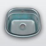 WW-4947   Кухонная мойка из нержавеющей стали Покрытие:Матовая/Микродекор Размеры: 490х470 мм Толщина стали: 0,6 мм Глубина чаши: 180 мм Диаметр чаши: 420х335 мм Расположение чаши: по центру Комплектация: мойка + сифон + уплотнитель + крепления.