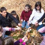 Les francas Fesches le Châtel printemps 2010, dans la forêt
