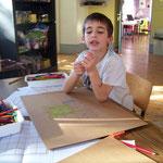 Les francas Fesches le Châtel automne 2009  fabrication de jeux