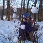 Les francas Fesches le Châtel février 2010 dans la forêt