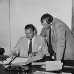 FOUNDER WILLY SCHMITZ AND EMPLOYEE, 1953