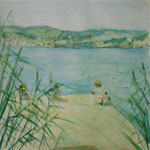 Musse am See, Aquarell, 2015