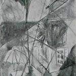 Villa Carona, Kohle, Bleistift, 30x40, 2020