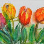 Tulpen 1, Aquarell 2016