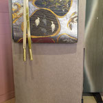 色無地反物(八掛付き) 南天文様 ¥58000