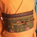 紬着物 ¥28000 九寸名古屋帯 インド綿 ¥10000