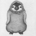 景品でもらったタオルをほっかむる皇帝ペンギン Jr.
