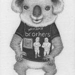 ヤマハブラザーズTシャツのコアラ