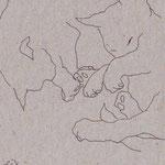 Tusche auf Papier, 11 x 9,5 cm