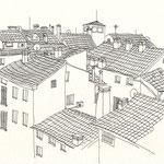 Vicenza, Tusche auf Papier, 19 x 24 cm