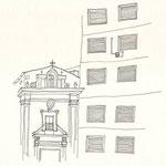 Palermo, Tusche auf Papier, 20 x 22 cm