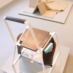 BRIDGETTE BUCKLEY STUDIO 'Negotiating Blanket' (top), MERKLED STUDIO 'Saddle Bag Chair no.2' (bottom)
