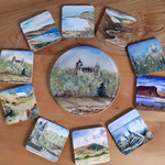 Range of designs available as coasters, tablemats, china mugs, mousemats, cutting boards and clocks