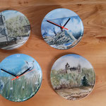 A new line of Glass clocks available  to order in all designs