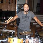 Schlagzeugaufnahme in den Principal Studios
