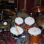 Schlagzeugaufnahme in den Peppermint Park Studios