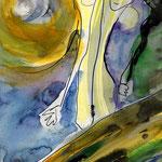 """""""Moonwalker"""", Aquarell, 0,30x0,25"""