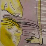 """""""Liebespaar"""", Acryl, Leinwand, 1,50x0,80"""