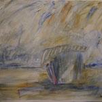"""""""Am Strand"""", Acryl, Leinwand, 1,20x1,20"""