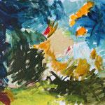 """Die Farbe Blau"" Acryl, Leinwand, 1,20x1,00"
