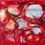 """Die Farbe Rot"", Acryl, Leinwand, 1,20x1,00"