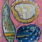 """Gartenparty"" Acryl auf Leinwand, 1,20x1,00"