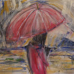 """Regen"", Acryl, Leinwand, 1,00x0,80"