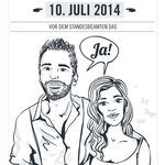 Hochzeitskarte Illustration © Bianca Fels