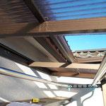 台風被害 ポリカの波板屋根破損