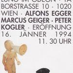 Alfons Egger Odeon Wien Einladung