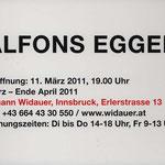 Einladungskarte Alfons Egger Galerie J.Widauer 2011