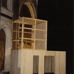 Alfons Egger ATELIER Sperrholz/Pappel 440/420/200cm 1995 Odeon Wien