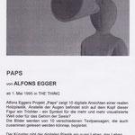 Alfons Egger SKULPTUR 1995