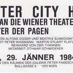 Einladung Alfons Egger Beatrix Sunkovsky COUNTER CITY HOTEL Galerie Krinzinger